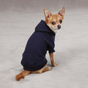Casual Canine 24-Inch Cotton Basic Dog Hoodie, X-Large, Navy