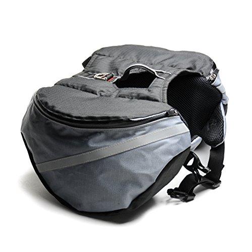 Wuffpack Dog Backpack Medium Gray/black