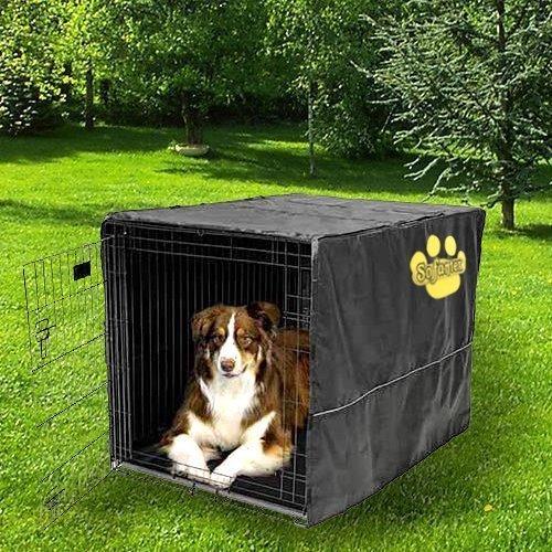 Sofantex Heavy Duty High Quality Crate Cover Waterproof 3 Year Warranty, 48″ L x 30″ W x 33″ H, Black