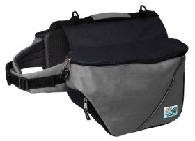 Doggles Dog Backpack, XS, Gray/Black