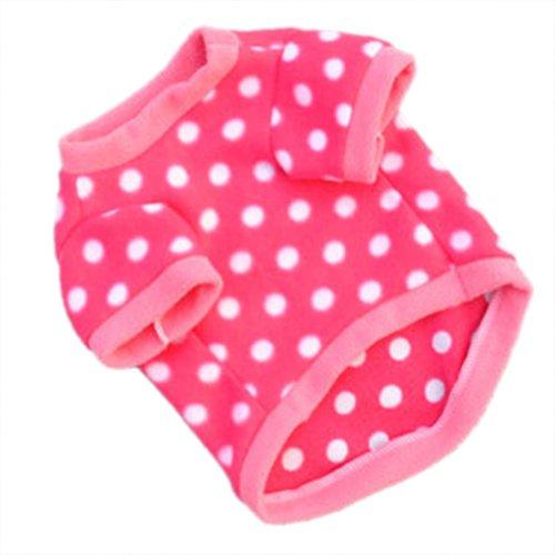 WXBUY Pet Dogs Fleece Fur Coat Clothes Puppy T-shirts Pink XS