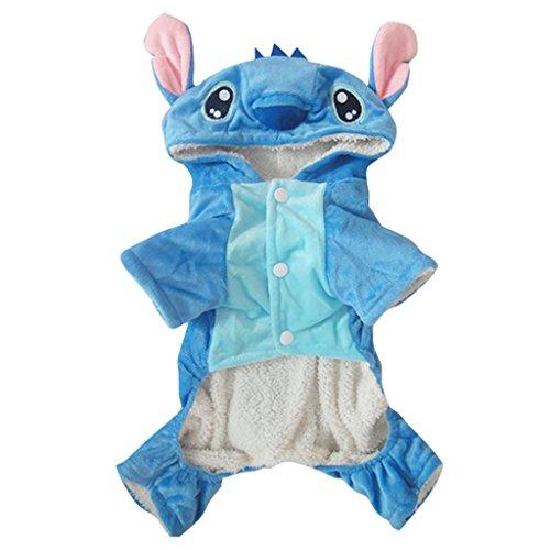 Vvhome Disney Stitch Cartoon Pet Custume Coat for Small Medium Large Dogs (M)