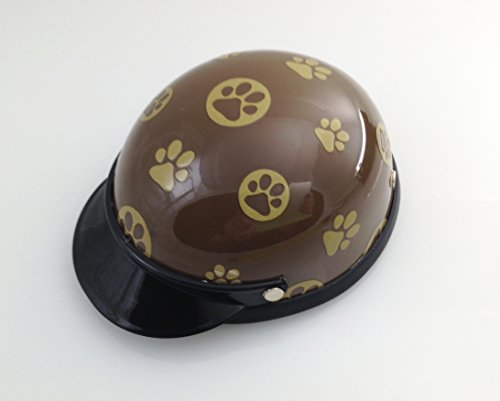 Helmet for Biker Dogs, Cats and Small Pets, Costume, Pet Accessory – Gold Paw