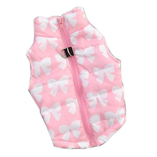Urparcel Puppy Pet Dogs Padded Vest Harness Warm Coats Jackets Costumes Pink X-Small