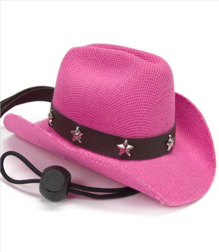 Dog Cowboy Hat – Pink, 5″ Brim, 2-1/2″ Inside