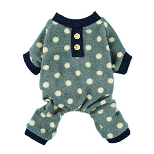 Fitwarm® Adorable Polka Dots Fleece Dog Pajamas Pet Coats Soft Pjs Apparel, Medium