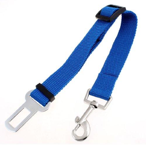 Nylon Adjustable Lobster Clasp Car Seat Dog Puppy Pet Safty Belt Blue