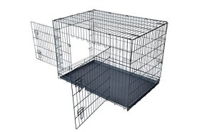 PayLessHere 42″ XXL Dog Crate Double-doors Folding Metal Dog Cage w/ Free Tray