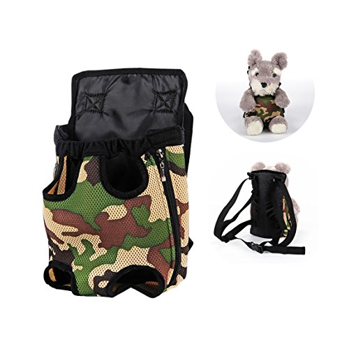 Lovely Baby Front & Back Pack Durable Breathable Comfortable Dog Carrier,Convenient Safe to Travel around Cycling Hiking Shopping Outdoor Activities LY-Carrier001-S
