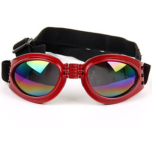 Stylish Multi-Color Cute Pet Dog Sunglasses Waterproof Protection Goggles