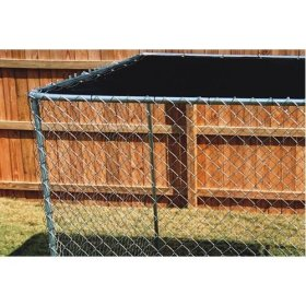 """9'8""""ft. X 10ft. Black Dog Kennel Shade Covers / Sunblock Tops"""