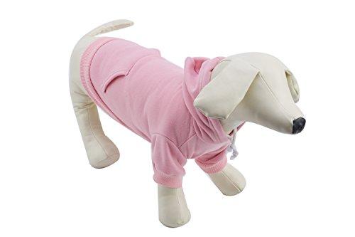 Pet Pink XS Dog Fleece Coat Sweater Jumpsuit Puppy Cat Hoodie Sweatshirt Clothes Apparel