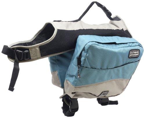 Outward Hound Kyjen   Excursion Dog Backpack, Large, Ice Blue and Elephant