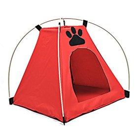 DINGANG Pet Kitten Cat Puppy Dog Mini Nylon Camp Tent Bed Play House
