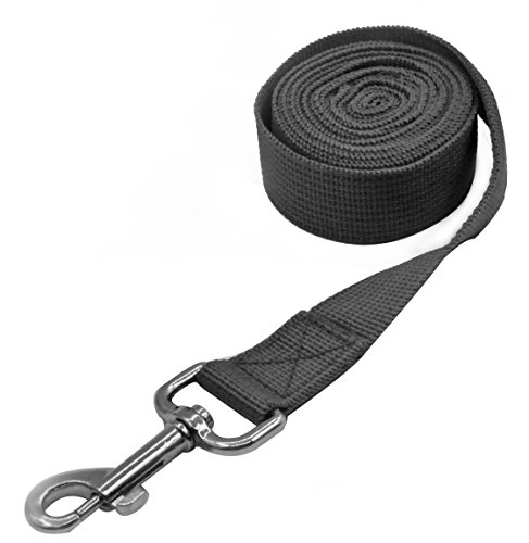 Pet Cuisine Nylon Long Dog Walking Leash For Harness Collar Cat Puppy Training Lead Rope 8 Feet Black