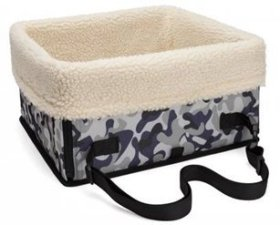 Besthomeorganizer Portable Waterproof Car Dog Cat Pet Booster Seat, Pet Carrier Snoozer Dog Puppy Car Basket, Dog Cat Pet Carrier Tote Travel Bed (Camouflage)