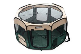 Milliard Portable Dog/Cat/Puppy/Pet Playpen, Exercise Crate/Kennel – Extremely Easy setup and Fold Down with Included Storage Bag, Great as a Pet Pen for Indoor or Outdoor Use – 30″L x 30″W x 17″T