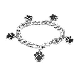 VALYRIA Memorial Pet Bracelets Pet/Dog Paw Urn Keepsake Cremation Ashes Charm Bracelets