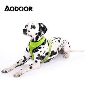Aodoor LED Dog Harness Light Soft Mesh Dog Puppy Pet Harness Adjustable (green, Medium)