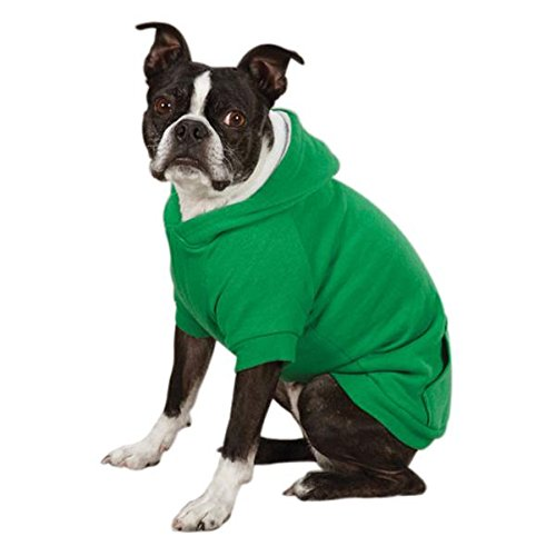 Zack & Zoey Polyester Fleece Lined Dog Hoodie, X-Large, Green