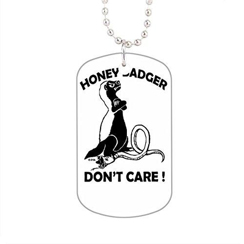 LetterT Honey Badger Don'T Care Tag For Dog