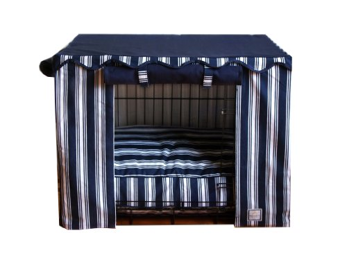 BOWHAUSNYC Nautical Stripe Crate Cover, Small
