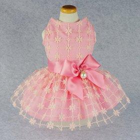 Fitwarm Fairy Pink Princess Pet Clothes for Dog Tutu Wedding Dress Shirts, Pink, Small