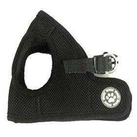 ZN Adjustable Soft Mesh Fabric Padded Harness for Small Pet Dog Puppy Chihuahua Without Leash X-Small Black