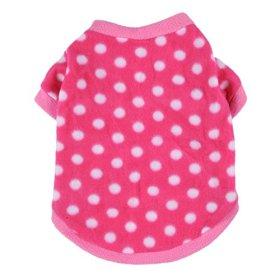 JJ Store Pet Dog Warm Fleece Sweater Puppy Polka Dot Hoodies Coat Clothes Apparel