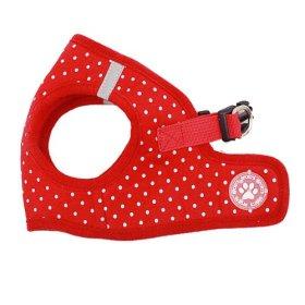 BINGPET BB5004 Polka Dot Soft Vest Dog Puppy Pet Harness Adjustable – Red