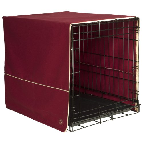 Pet Dreams 36 by 23-Inch Classic Crate Cover, Large, Burgundy