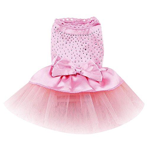 Dealzip Inc® Pink Cute Dog Cat Pet Tutu Bow Skirt Apparel Festival Costume(Size-Medium)