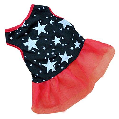 HP95(TM) Hot!Pet Dog Puppy Tutu Princess Dress Dot Lace Skirt Party Costume Apparel (L)