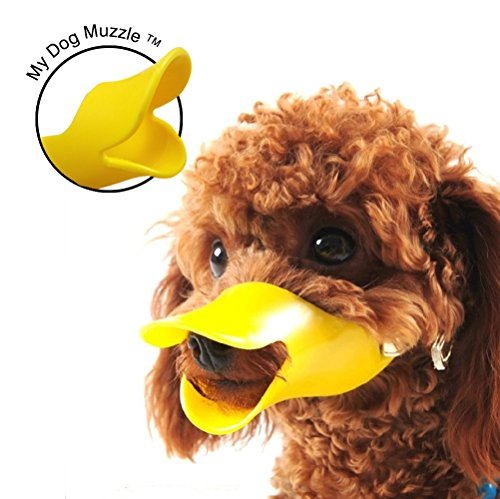 ★ Best Seller ★ My Dog Muzzle™ Size L ✔ Protect Children From Biting Pets ✔ Stops or Reduces Barking and Biting ✔ Duck Muzzle for Dog ✔ Safe and Soft Rubber Material ✔ Adjustable Head Strap – 612