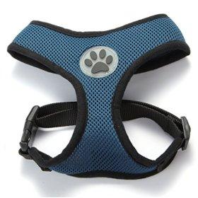 BINGPET BB5001 Soft Mesh Dog Puppy Pet Harness Adjustable – Navy Blue
