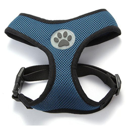 BINGPET BB5001 Soft Mesh Dog Puppy Pet Harness Adjustable – Navy Blue