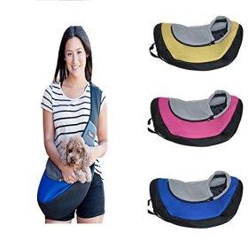 Ondoing Pet Sling Carrier Dog Cat Puppy Sling Bag Outdoor Pet Travel Bag Up to 20 lbs Blue