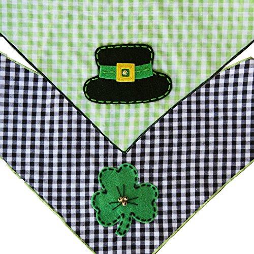 St. Patrick's Day Dog Bandana 2 Pack (Medium)