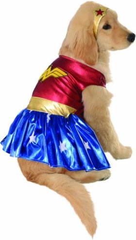 Rubies Costume DC Heroes and Villains Collection Pet Costume, Small, Wonder Woman
