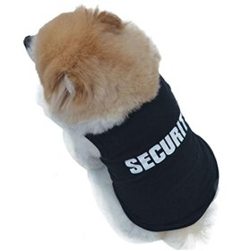 Small-Size Dog Shirt, HP95(TM) Summer Small Dog Clothes, Cute Teddy Dog Cat Thin Vest, Fashion Pet Puppy Clothes Summer Quote Security Cotton Costumes Pet Dog Cat Funny T Shirt
