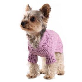 Stinky G Lavender Dog Aran Sweater, #12 – M
