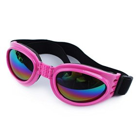 Lifeunion New Fashionable Water-Proof Multi-Color Pet Dog Sunglasses Eye Wear Protection Goggles Small (Pink)