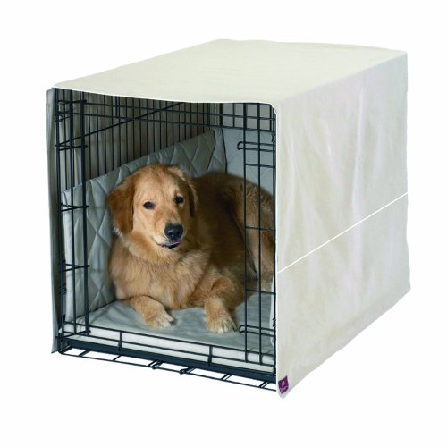 Pet Dreams Classic Cratewear Set, Khaki, Fits 42-Inch Crates, 3-Piece
