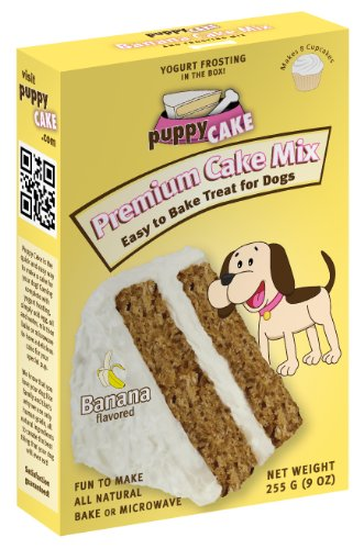 Puppy Cake Banana Cake Mix and Frosting – Net Wt. 9 oz(255g)