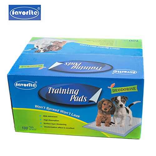 Favorite Floor Protection 22″ x 23″ Dog Puppy Housebreaking Training Pads