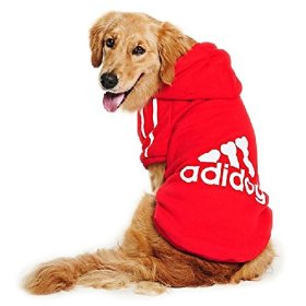 Eastlion Large Dog Warm Hoodies Coat Clothes Sweater Pet Puppy T Shirt Red 7XL