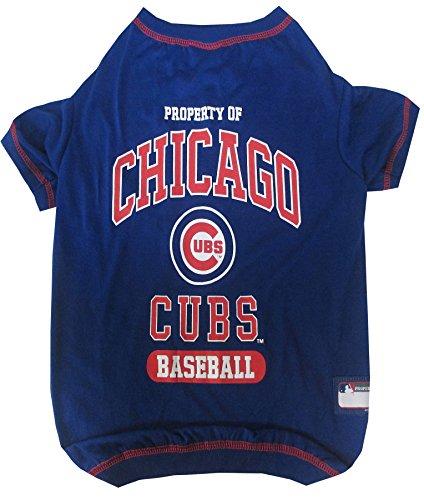 Pets First MLB Chicago Cubs Dog Tee Shirt, Medium