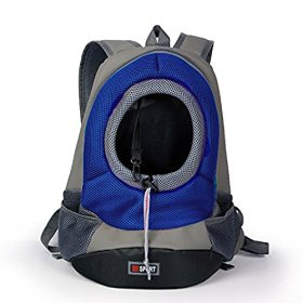 Paperflower® Dog Backpack 4 Colors Portable Outdoor Travel Backpack Taking Your Dog Out for a Walk (Blue, M)