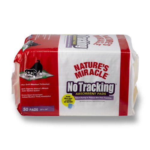 Nature's Miracle No Tracking Absorbent Pads, 50-Count (P-5736)