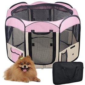 Yescom 2-Door Waterproof 600D Oxford Cloth Pet Playpen Dog Puppy Tent Exercise Kennel